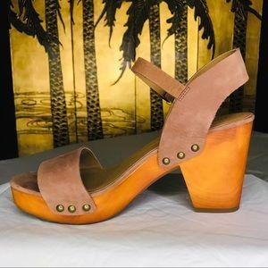 NWOB Lucky Brand Trisa Leather Heels